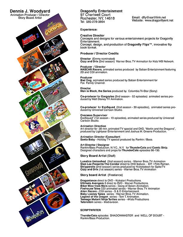 dragonfly entertainment resume bio